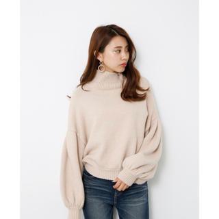 rienda - リエンダ 新品タグ付きM/N Tuck Shoulder Knit TOP