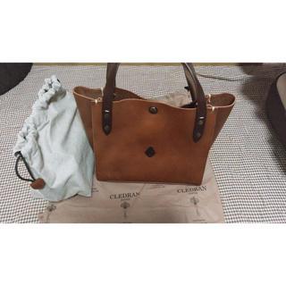 クレドラン(CLEDRAN)のCREDRAN クレドラン トートバック(AMO)ブラウン巾着付き 新品未使用(トートバッグ)