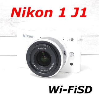 Nikon - ❤️可愛いホワイト❤️スマホに転送❤️Nikon 1 J1