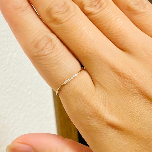 agete(アガット)の【Jewel closet by L&Co.】K10ダイヤモンド ウェーブリング レディースのアクセサリー(リング(指輪))の商品写真