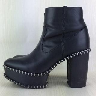 マウジー(moussy)のMOUSSY WOOD SOLE BOOTS ブラックM(ブーツ)