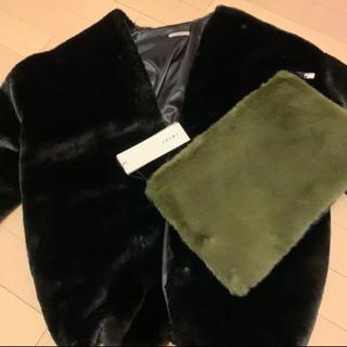 アリシアスタン(ALEXIA STAM)のjuemiファーコート、クラッチバッグセット(毛皮/ファーコート)