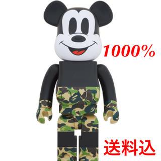メディコムトイ(MEDICOM TOY)のBE@RBRICK BAPE(R) MICKEY MOUSE 1000%(模型/プラモデル)