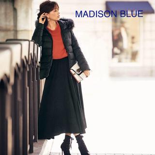 マディソンブルー(MADISONBLUE)のマディソンブルー ウールフレアブラックスカートMADISONBLUE(ロングスカート)