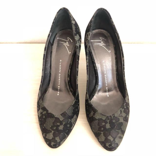 GIUZEPPE ZANOTTI(ジュゼッペザノッティ)の美品☆ジュゼッペ・ザノッティ レースパンプス361/2 レディースの靴/シューズ(ハイヒール/パンプス)の商品写真