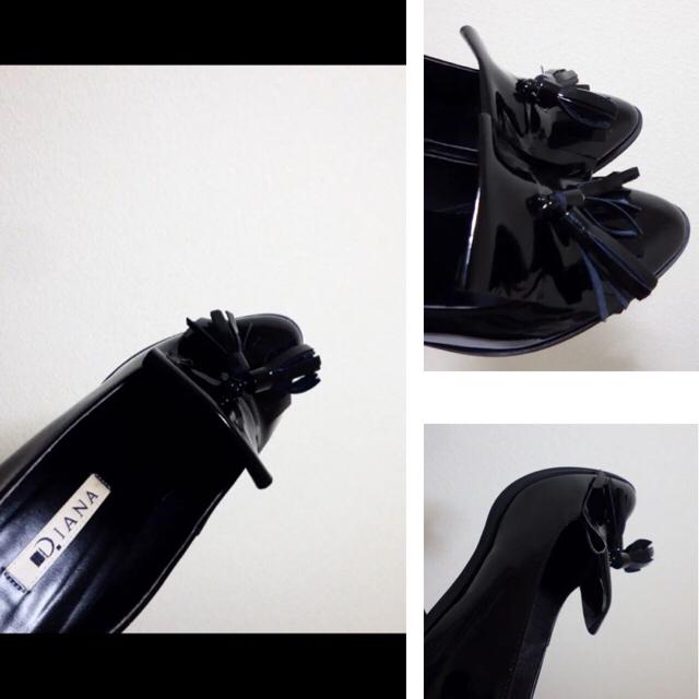 DIANA(ダイアナ)の23cm*美品*DIANA タッセル付 牛革 エナメル ハイヒール パンプス レディースの靴/シューズ(ハイヒール/パンプス)の商品写真