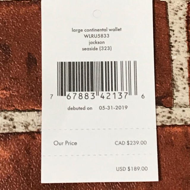 kate spade new york(ケイトスペードニューヨーク)のケイトスペード 長財布 正規品 国内最安値 新品未使用 即日発送 レディースのファッション小物(財布)の商品写真