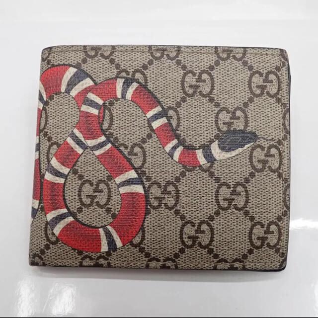 24-Feb | Gucci - GUCCI グッチ 二つ折り財布 コインウォレット スプリーム  スネーク 蛇 の通販 by チッチSHOP
