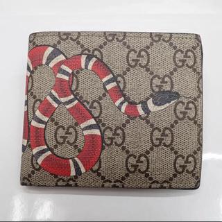 グッチ(Gucci)のGUCCI グッチ 二つ折り財布 コインウォレット スプリーム  スネーク 蛇 (折り財布)