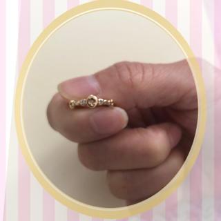 アガット(agete)のアガットピンキーリング ゴールド 1号(リング(指輪))