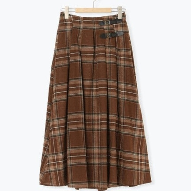 SM2(サマンサモスモス)の新品 チェック柄ベルト付きタックスカート レディースのスカート(ロングスカート)の商品写真