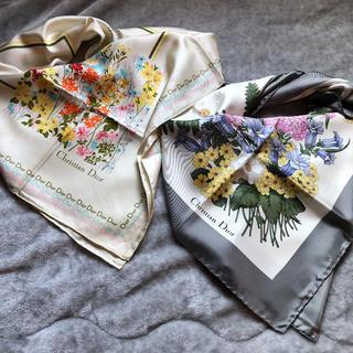 クリスチャンディオール(Christian Dior)のDior 大判スカーフ2枚セット(バンダナ/スカーフ)