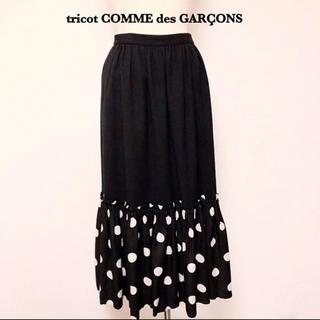 コムデギャルソン(COMME des GARCONS)のCOMME des GARCONS ドット ロング スカート おしゃれ(ロングスカート)