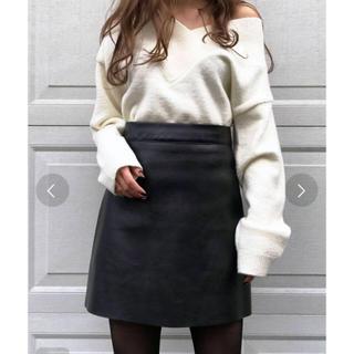 ACYM Leatherトラペーズスカート