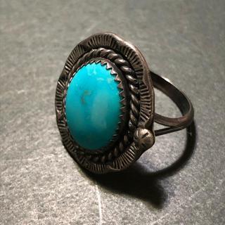 ターコイズ リング 指輪 インディアンジュエリー メンズ(リング(指輪))