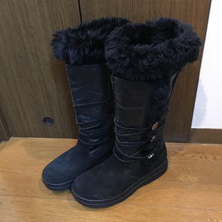 ミネトンカ(Minnetonka)のミネトンカ  ブーツ (ムートン・レザー ・スエード)(ブーツ)