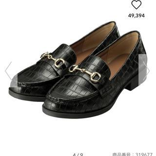 ジーユー(GU)のジーユー ビットローファー 新品 ブラック Lサイズ(ローファー/革靴)