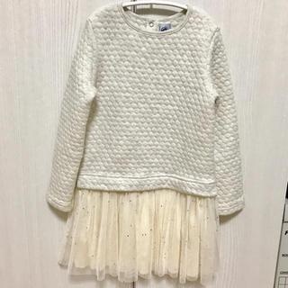 PETIT BATEAU - プチバトー★星ラメワンピース★6ans 116cm