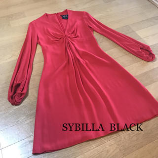 Sybilla - 美品  シビラ  SYBILLA   BLACK  ワンピース ドレス 赤