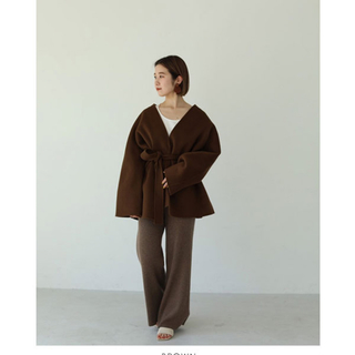 TODAYFUL - todayful  トゥデイフル 38 ブラウンWool Short Gown