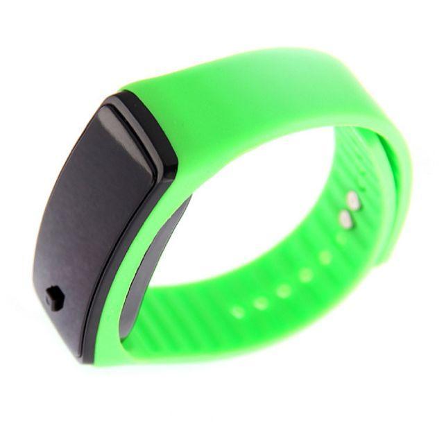 グリーン超軽量 シリコンバンド デジタルウォッチ LED表示腕時計 男女兼用の通販