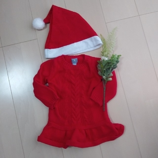 babyGAP - ベビーギャップ babygap ニットワンピース クリスマス サンタ 80サイズ