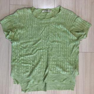 グリーンレーベルリラクシング(green label relaxing)の【GREEN LABEL RELAXING】半袖サマーニット(ニット/セーター)