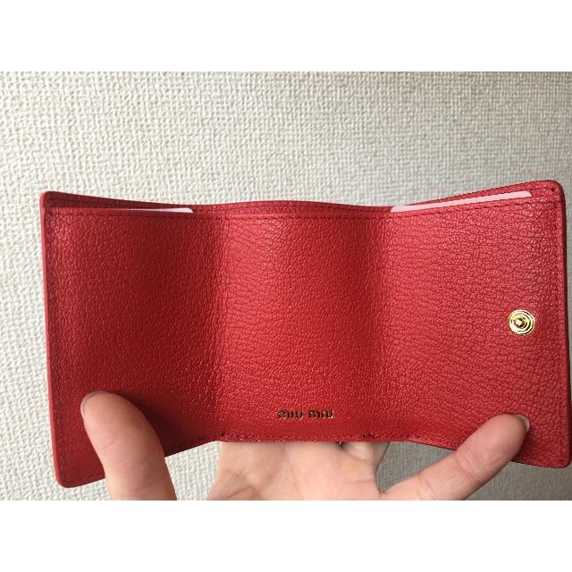 miumiu(ミュウミュウ)のmiu miu 三つ折り財布 🖤ラヴレター🖤 レディースのファッション小物(財布)の商品写真