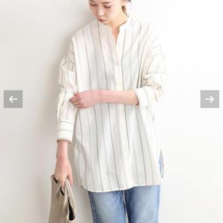 イエナ(IENA)のマルチストライプバンドカラーロングシャツ(シャツ/ブラウス(長袖/七分))
