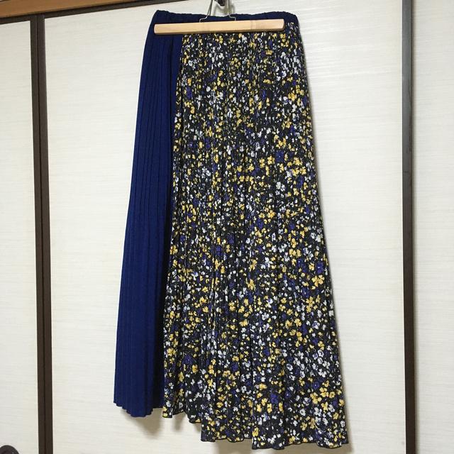 niko and...(ニコアンド)の花柄 プリーツスカート レディースのスカート(ロングスカート)の商品写真