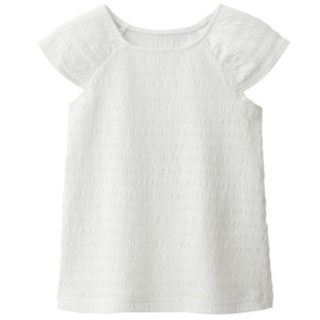GU - GU スクエアネック Tシャツ 女の子