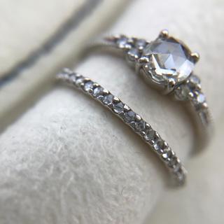 ローズカットダイヤモンド 究極のストレートリング(リング(指輪))