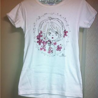 水森亜土 Tシャツ ヒヨコ ホワイト Mサイズ