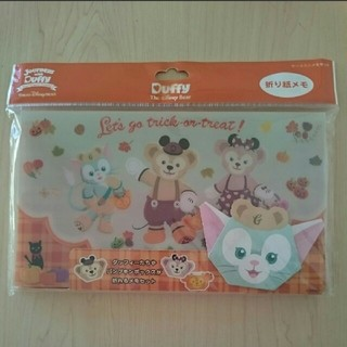 Disney - ダッフィーディズニーシーケース入り折り紙メモ