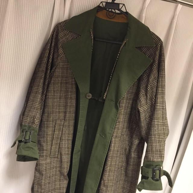 Ameri VINTAGE(アメリヴィンテージ)のAmeri リバーシブルトレンチコート レディースのジャケット/アウター(ロングコート)の商品写真
