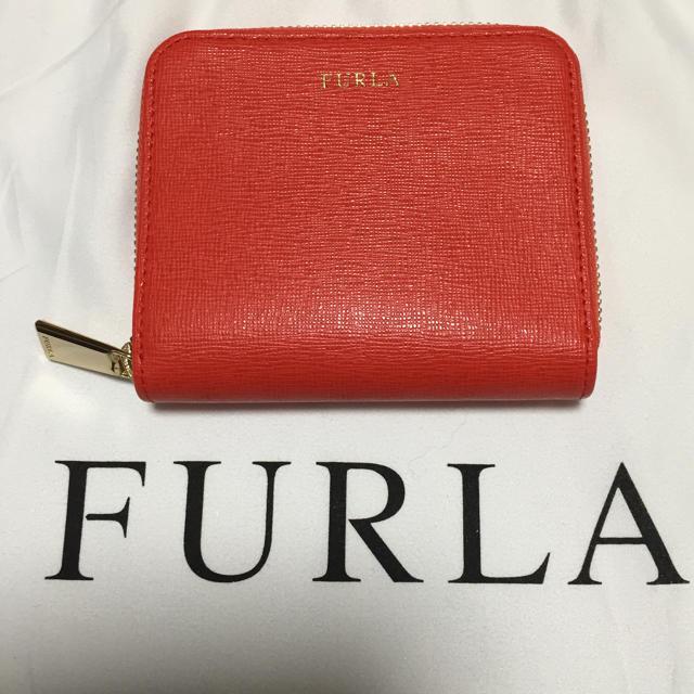 Furla(フルラ)の数回使用  フルラ   FURLA  二つ折り財布 オレンジ レディースのファッション小物(財布)の商品写真