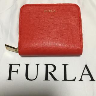 Furla - 数回使用  フルラ   FURLA  二つ折り財布 オレンジ