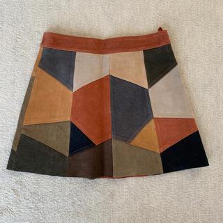 ザラ(ZARA)のZARA スウェードスカート レザースカート(ミニスカート)