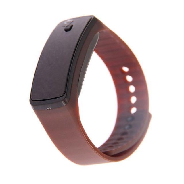 ブラウン超軽量 シリコンバンド デジタルウォッチ LED表示腕時計 男女兼用の通販