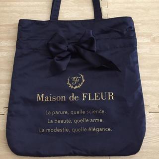Maison de FLEUR - メゾンドフルール リボントートバッグ ネイビー
