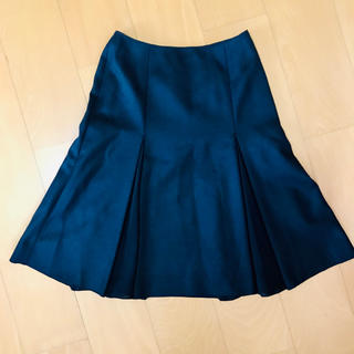 ナチュラルビューティーベーシック(NATURAL BEAUTY BASIC)のナチュラルビューティーベーシック  フレアスカート ウール100% 日本製(ひざ丈スカート)