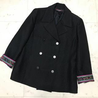 LEONARD - 週末まで限定お値下【美品】LEONARD シルクウール コート 11AR