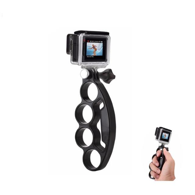 GoPro(ゴープロ)のGoPro対応 グリップ アクションカメラ ゴープロ ハンドクリップ メリケン型 スマホ/家電/カメラのカメラ(その他)の商品写真
