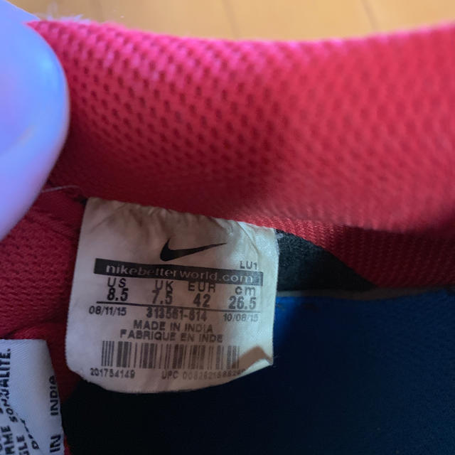 NIKE(ナイキ)のナイキスニーカー  赤 メンズの靴/シューズ(スニーカー)の商品写真