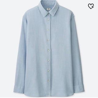 ユニクロ(UNIQLO)のユニクロ フランネルシャツ 長袖 ブルー(シャツ/ブラウス(長袖/七分))