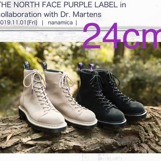 ドクターマーチン(Dr.Martens)の新品ドクターマーチン×ノースフェイスパープルレーベル超希少限定品24cmブラック(ブーツ)
