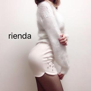 rienda - リエンダ ビジュー付き ミニタイトスカート