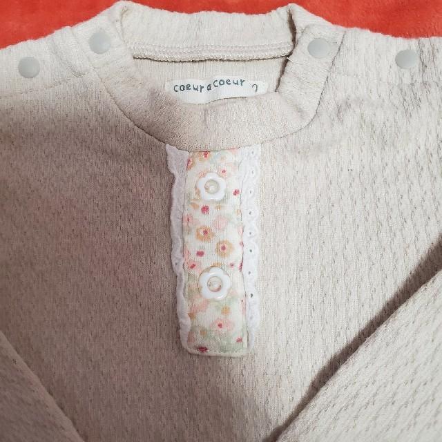 coeur a coeur(クーラクール)の少し厚めのトップス 80 キッズ/ベビー/マタニティのベビー服(~85cm)(シャツ/カットソー)の商品写真