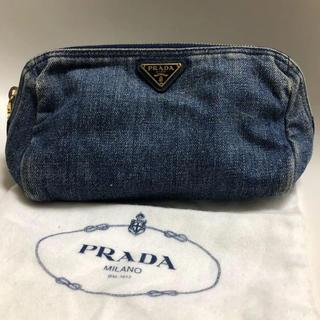 プラダ(PRADA)のPRADA  デニムポーチ BR4659(ポーチ)