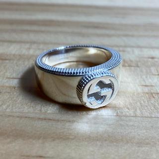 グッチ(Gucci)のGUCCI グッチ リング 指輪 11号 シルバー インターロッキング(リング(指輪))